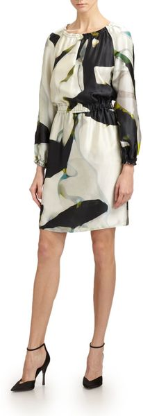 Armani Silk Koiprint Dress - Lyst