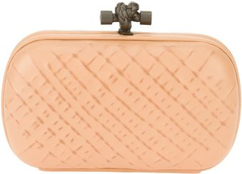 Bottega Veneta Quilted Effect Box Clutch - Lyst