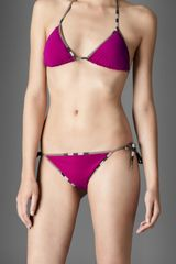 Burberry Check Trim Triangle Bikini - Lyst