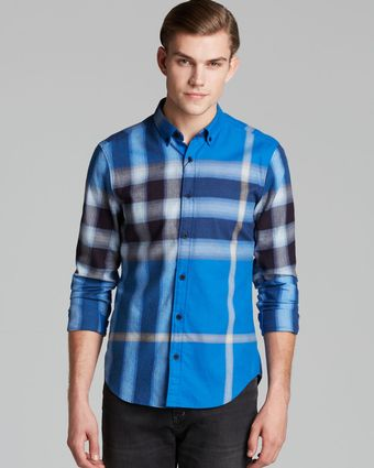 Burberry Brit Fred Check Sport Shirt Slim Fit - Lyst