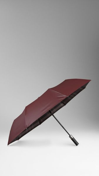 Burberry Checklined Folding Umbrella - Lyst