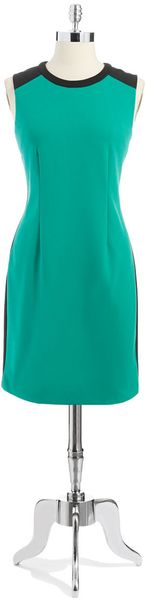 Calvin Klein Colorblock A-line Dress - Lyst