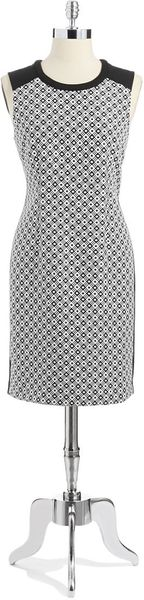 Calvin Klein Checkered Shift Dress - Lyst