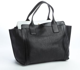 Chloé Black Leather Alison Tote Bag - Lyst