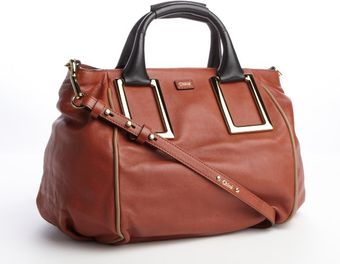 Chloé Rust Colored Leather Ethel Convertible Tote - Lyst