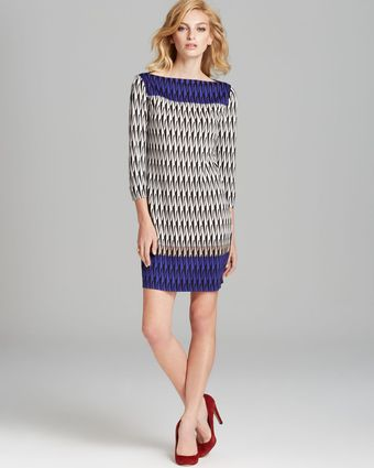 Diane Von Furstenberg Dress Print Knit - Lyst