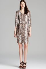 Diane Von Furstenberg  New Julian Two Python Wrap Dress - Lyst
