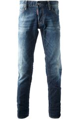 DSquared2 Slim Washed Jeans - Lyst