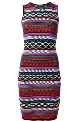 DSquared2 Embroidered Sleeveless Dress - Lyst