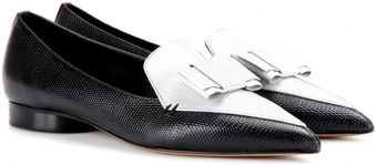 Erdem Twotone Leather Pointed Flats - Lyst