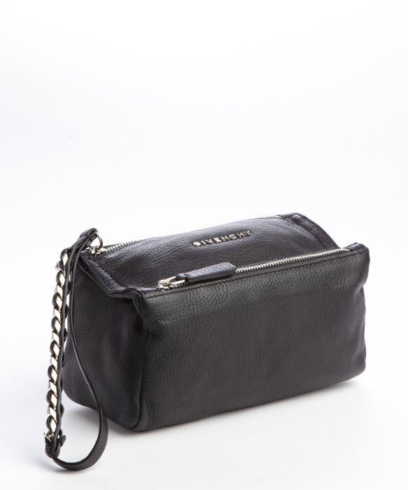 4e03ba32d3 Lyst - Givenchy Black Leather Pandora Zip Wristlet Pouch in Black