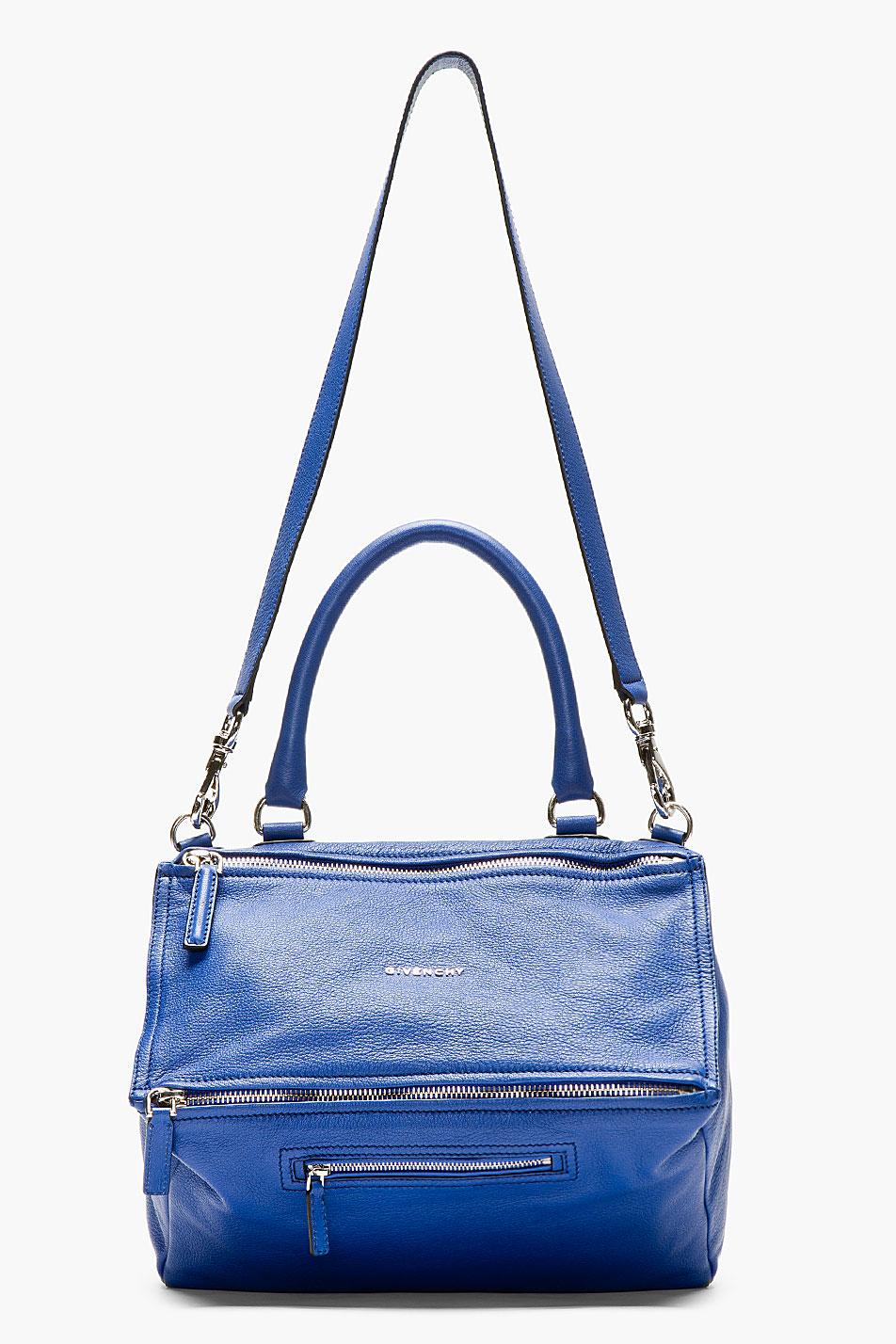 Lyst - Givenchy Blue Leather Pandora Shoulder Bag in Blue decc1cbc5c5c2