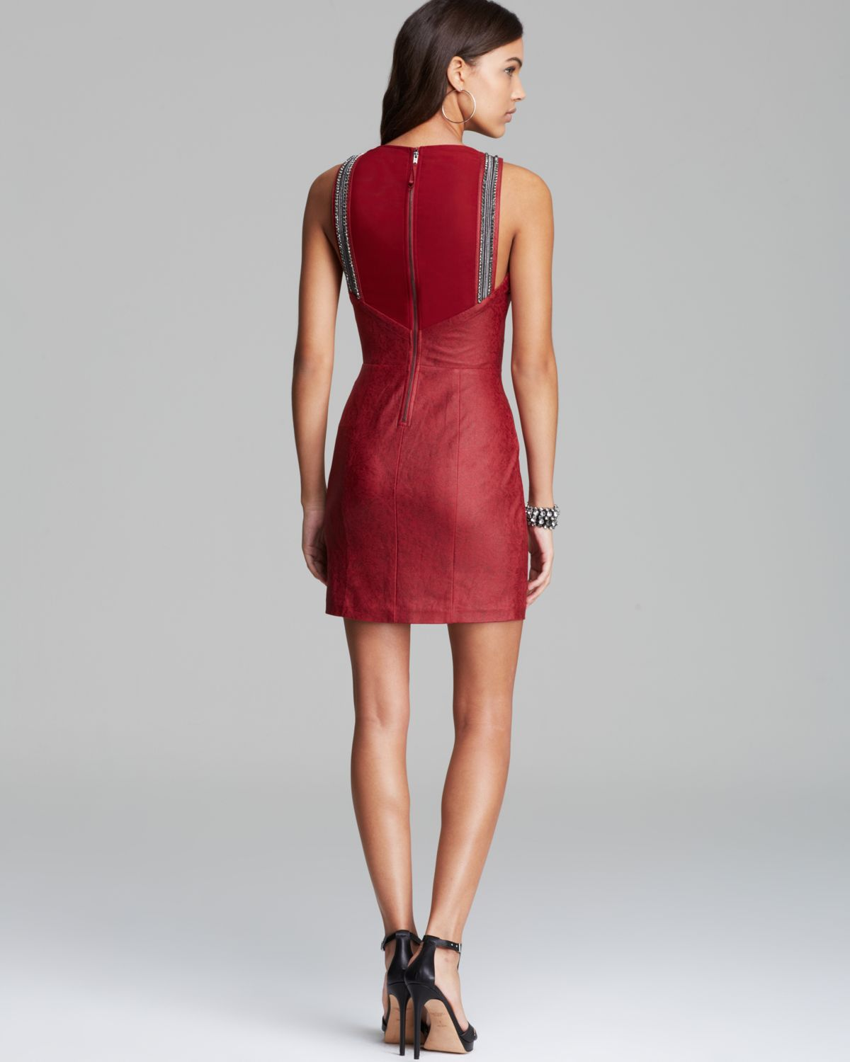 Red dress guess clothing