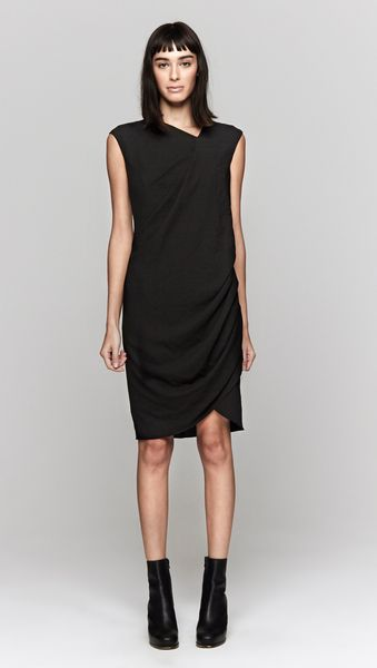 Helmut Lang Dry Crepe Dress - Lyst