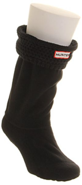 Hunter Moss Cable Cuff Short Sock - Lyst