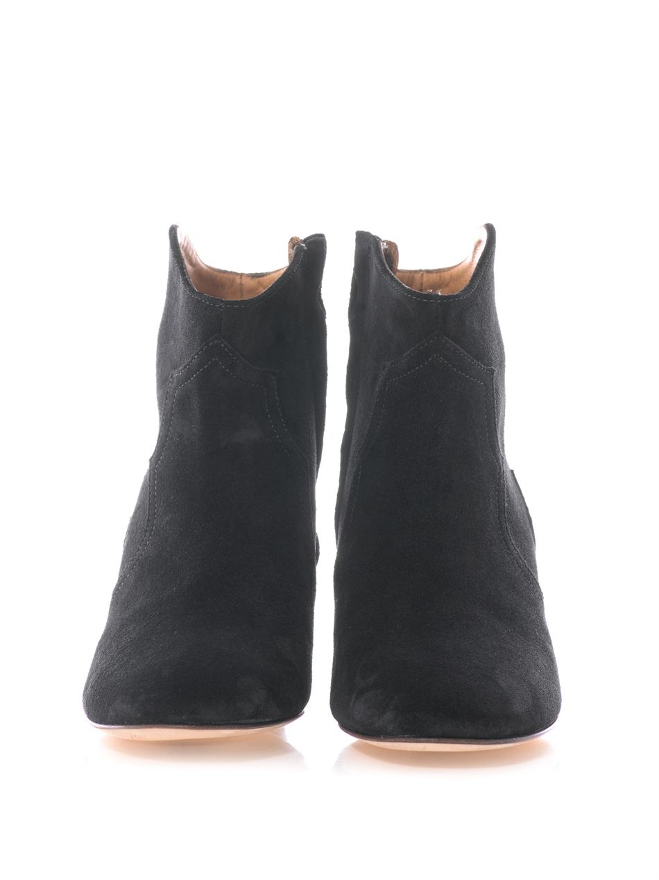 marant dicker suede boots in blue lyst