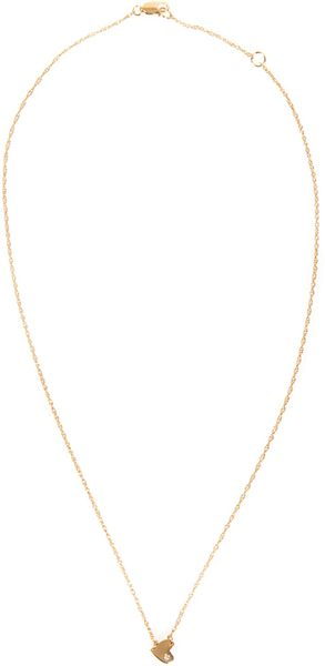 Jennifer Zeuner Xs Horizontal Heart Necklace with Diamond - Lyst
