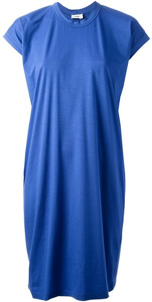 Jil Sander T-shirt Dress - Lyst