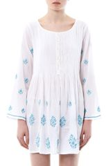 Juliet Dunn Embroidered Sun Dress - Lyst