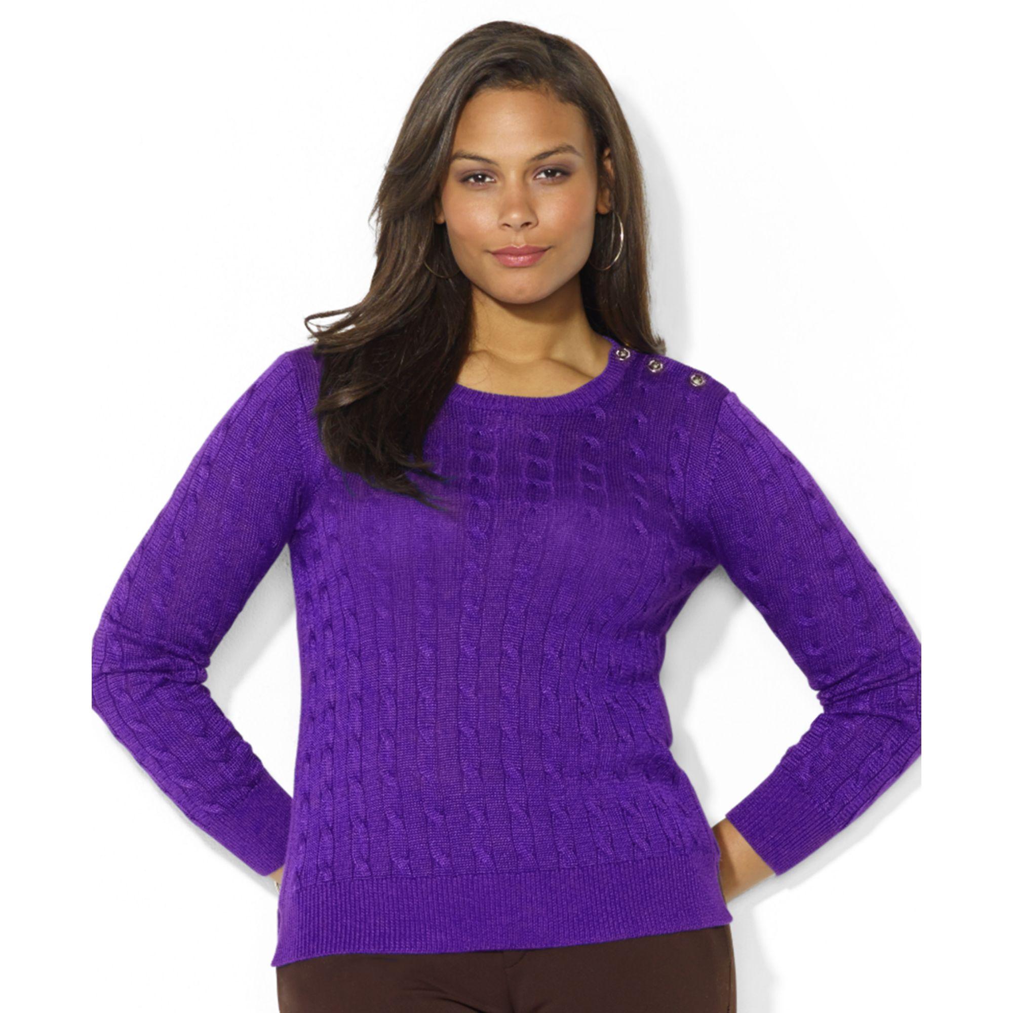 Karen Scott Purple Bliss Marled V-Neck Sweater Size S | Marled sweater, Karen scott sweaters