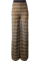 M Missoni Flared Knitted Trousers - Lyst