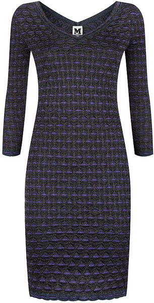 M Missoni Lurex Bubble Knit Dress - Lyst