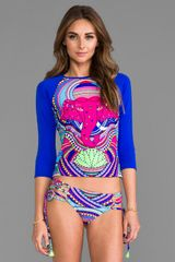 Mara Hoffman Rash Guard in Royal - Lyst