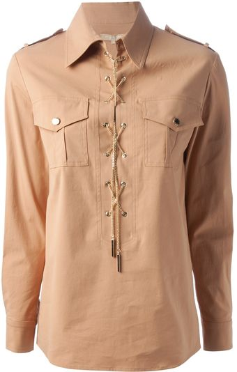 Michael Kors Pointed Collar Shirt - Lyst