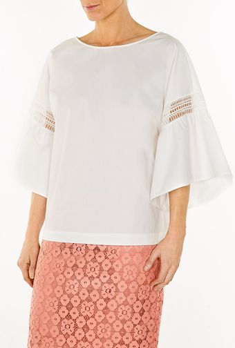 Philosophy di Alberta Ferretti Puff Sleeved Top - Lyst
