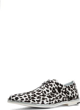 Pierre Hardy Hairy Calf Print Derby - Lyst