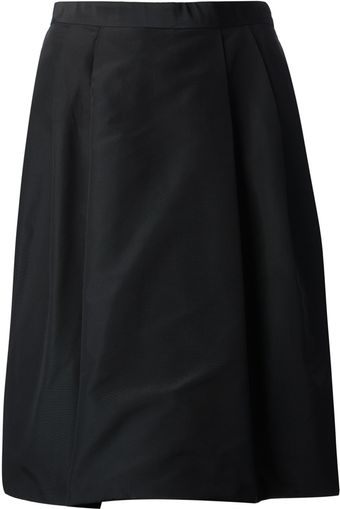 Ralph Lauren Black Label Pleated Aline Skirt - Lyst
