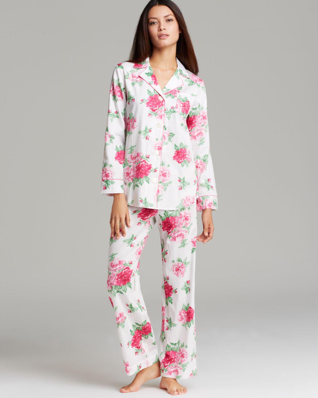 bce384d5383 Ralph Lauren Lauren Sateen Classic Pajama Set in Pink - Lyst