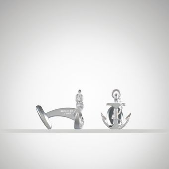 Ralph Lauren Anchor Cuff Links - Lyst