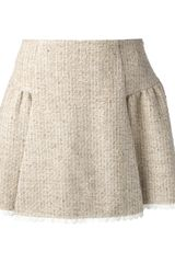 RED Valentino Tweed Mini Skirt - Lyst