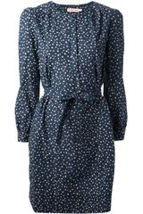 See By Chloé Star Print Shift Dress - Lyst