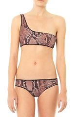 Stella McCartney Snake Print One Shoulder Bikini - Lyst