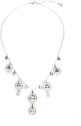 Swarovski Mila Graduated Crystal Teardrop Necklace - Lyst