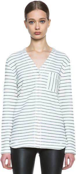 T By Alexander Wang French Rib Baseball Tee - Lyst