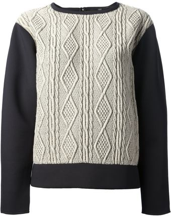 Tibi Cable Knit Sweater - Lyst