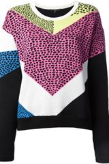 Tibi Intarsia Spotted Knit Sweater - Lyst
