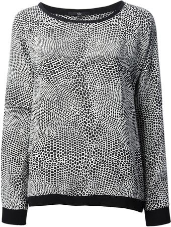 Tibi Patterned Blouse - Lyst