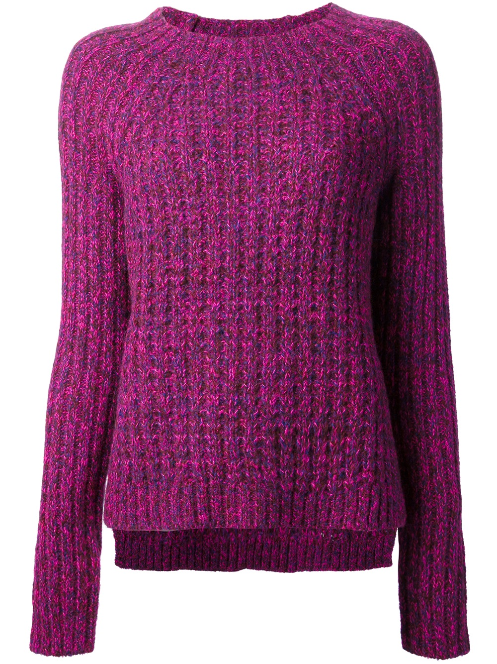 Tibi Chunky Knit Jumper in Purple | Lyst
