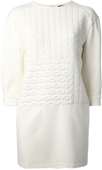 Tibi Knitted Shift Dress - Lyst