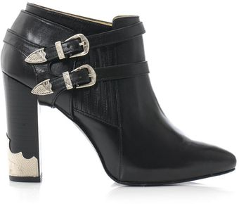 Toga Pulla Double Buckle High Heel Ankle Boots - Lyst