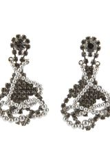 Tom Binns Pearl and Crystal Drop Earrings - Lyst