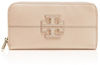 Tory Burch Stacked T Zip Continental Wallet - Lyst