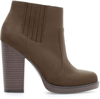 Zara High Heel Ankle Boot - Lyst