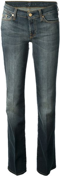 7 For All Mankind Manhattan Bootcut Jean - Lyst