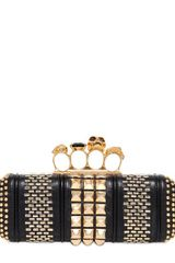 Alexander McQueen Studded Nappa Leather Knucklebox Clutch - Lyst