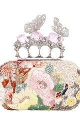 Alexander McQueen Embroidered Butterfly Knucklebox Clutch - Lyst
